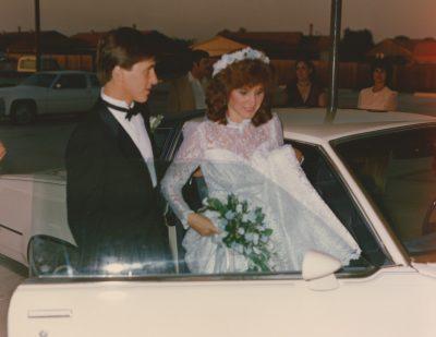 Vintage wedding photos on film by central Illinois photographer Kristen Kaiser